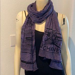 Chanel large oversized scarf